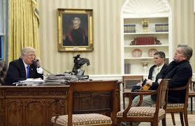 What Desk Is Trump Using by Trump Orders Isis Plan Gives Bannon Role In Revamped National