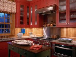 red kitchen accents rustic painted kitchen cabinets red rustic