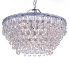 Teardrop Crystals Chandelier Parts Wesley Crystal 6 Light Chandelier With Clear Teardrop Beads Bath
