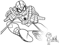 free kids printable spiderman coloring pages free coloring book