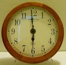 sterling u0026 noble clock company mfg no 9 oak quartz wall clock