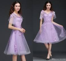 lilac dresses for weddings lilac v neck cap sleeves bridesmaid dresses 2018 new cheap