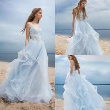blue wedding dresses discount beautiful light sky blue wedding dresses boho style