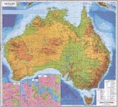 Topographical Map Of New Mexico by Highly Detailed Russian Topographical Map Of Australia With Towns