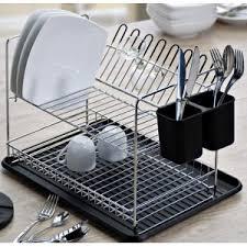 vaisselle cuisine egouttoir à vaisselle 2 étages porte couverts cuisine plaisir