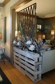 furniture awesome room separator ideas with floral arrangements