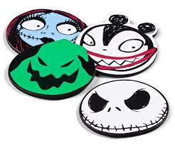 nightmare before character coasters