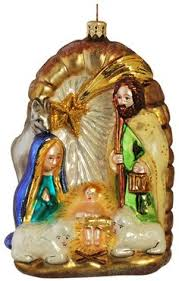 baby jesus asleep in stable nativity religious glass