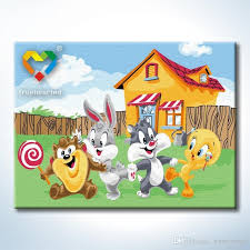 Looney Tunes Wall Art Diy Painting Baby Toys 30x40cm Artistical