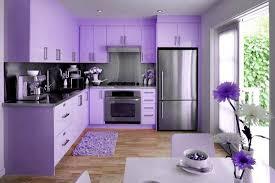 une cuisine de couleur mauve lilas