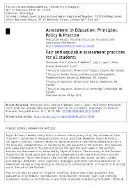 fair and equitable assessment practices for all students pdf