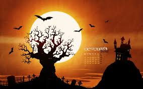 halloween desktop wallpaper hd spooky background images group 47