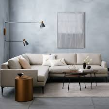 Overarching Floor L Andes L Shaped Sectional Living Rooms Room And Malibu Houses