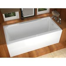 atlantis whirlpools soho 30 x 60 front skirted tub in white free