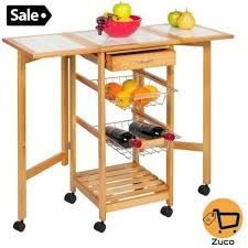 folding kitchen island cart folding kitchen island cart trolley storage organizer rolling table
