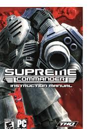 supreme commander manual indemnity license