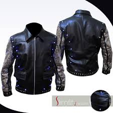 light bike jacket jericho light up replica wwe y2j leather jacket