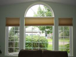 indoor arch window treatments