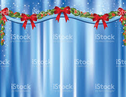 Snowflake Curtains Christmas Blue Stage Curtains At Christmas Stock Vector Art 115049092 Istock