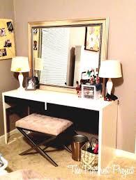 broadway lighted vanity makeup desk desk and vanity combo