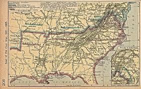 Blank Civil War Map by Maps Usa Map Civil War