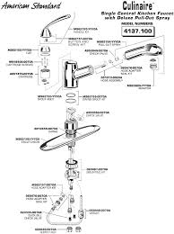 pull out kitchen faucet parts standard faucet parts standard pull out kitchen faucet