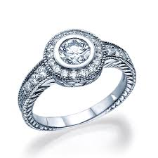 vintage halo engagement rings 0 8 ct vintage halo engagement ring 14k white gold couplez
