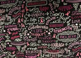 pink ribbon fabric breast cancer awareness pink and black fabric cotton fabric