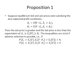 ask e bid bid ask and transaction prices in a specialist market with