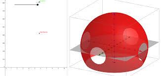 kugeloberfläche kugel oberfläche volumen geogebra