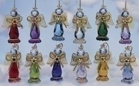 birthstone ornaments club pack of 36 birthstone angel figure christmas ornaments 3 25