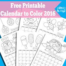 2016 printable calendar kids decorate blank calendar