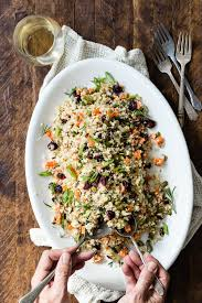 cauliflower rice cranberry pilaf foodness gracious