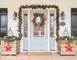 White Christmas Decor Outdoor by 62 Best Christmas Farmhouse Style Images On Pinterest White