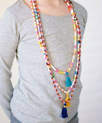 diy necklace bead images Project 180 diy hama bead and tassel necklaces jpg