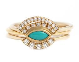 Turquoise Wedding Rings by Fine Jewelry Design By Artemer On Etsy
