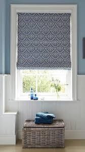bathroom blind ideas hillarys blue patterned bathroom blinds window treatments