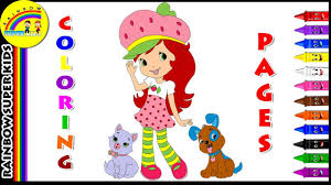 coloring pages of strawberry shortcake princess drawing coloring