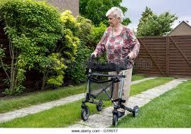 senior walkers with wheels wheeled walker stock photos wheeled walker stock images alamy