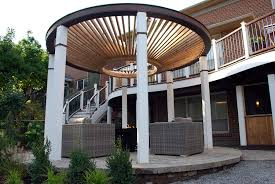 Modern Pergola Designs by Curves Curves Curves A Funky Design With A Curved Upper Deck