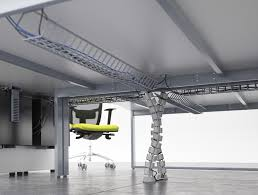 under table cable tray switch heavy duty desk cable tray in white