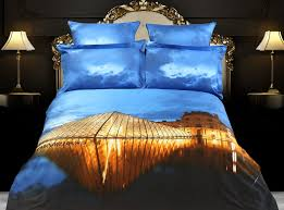 louvre theme bedding king size cotton duvet cover