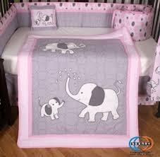 Boutique Crib Bedding Boutique Pink Gray Elephant 13pcs Crib Bedding Sets Baby Bedding