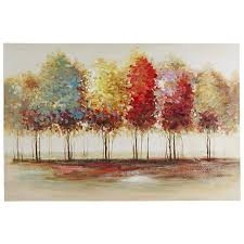 whole high quality abstract trees oil painting on canvas handmade beautiful colors abstract landscape trees oil