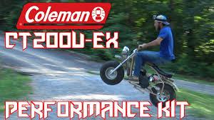 motocross racing parts coleman ct200u ex performance parts mini bike monday youtube