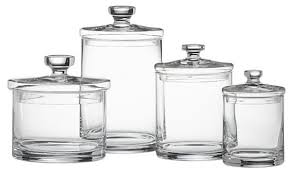 kitchen glass canisters glass canisters home and decoration