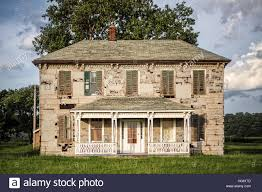 old farmhouse roadside american midwest stock photo royalty free
