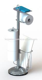 freestanding toilet paper holder unique paper towel holder and