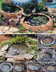 wonderful diy garden ponds from old tires