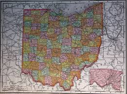 Map Of Ohio by Map Of Ohio 1900